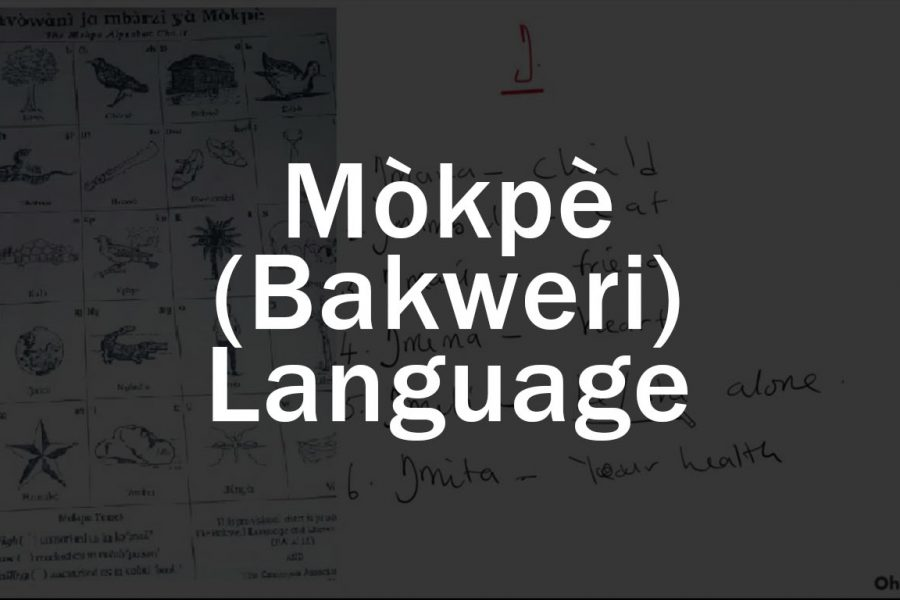 Mòkpè (Bakweri) Language Basic Literacy 1