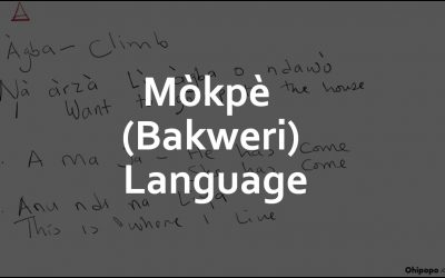 Mòkpè (Bakweri) Literacy 2 (Short Word Formation)