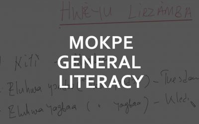 Mòkpè (Bakweri) Language General Literacy