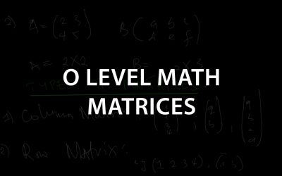 Ordinary Level Math | Metrices