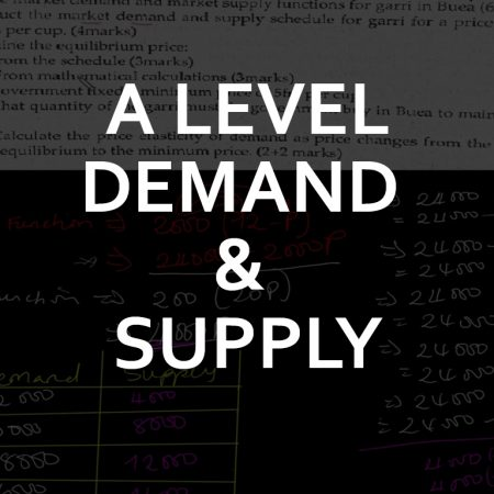Advanced Level Demand and Supply