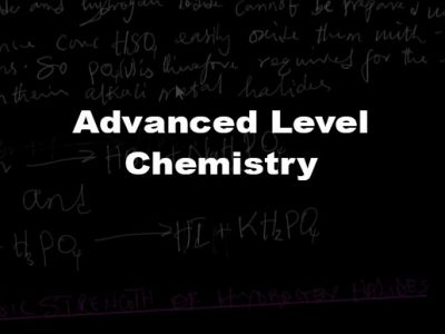 Advanced Level Chemistry