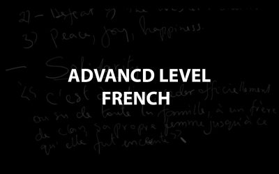 Advanced Level French