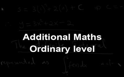 Ordinary Level Additional Mathematics